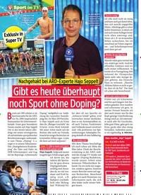 Titelbild der Ausgabe 42/2019 von Sport im TV Gibt es heute überhaupt noch Sport ohne Doping?. Zeitschriften als Abo oder epaper bei United Kiosk online kaufen.