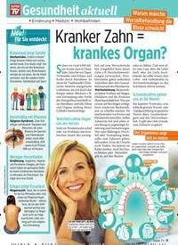 Titelbild der Ausgabe 42/2019 von Gesundheit aktuell: Kranker Zahn = krankes Organ?. Zeitschriften als Abo oder epaper bei United Kiosk online kaufen.