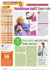 Titelbild der Ausgabe 43/2019 von Wie warm die Wohnung sein muss: Heizkörper kalt? Dann mindern Sie die Miete!. Zeitschriften als Abo oder epaper bei United Kiosk online kaufen.