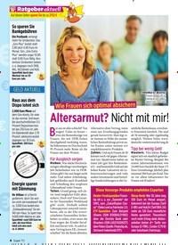 Titelbild der Ausgabe 44/2019 von Ratgeber aktuell: Altersarmut? Nicht mit mir!. Zeitschriften als Abo oder epaper bei United Kiosk online kaufen.