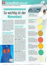 Titelbild der Ausgabe 44/2019 von Gesundheit aktuell: So wichtig ist der Nierentest. Zeitschriften als Abo oder epaper bei United Kiosk online kaufen.