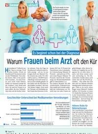 Titelbild der Ausgabe 46/2019 von Es beginnt schon bei der Diagnose: Warum Frauen beim Arzt oft den Kür zeren ziehen. Zeitschriften als Abo oder epaper bei United Kiosk online kaufen.