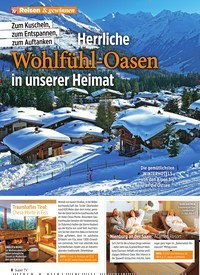 Titelbild der Ausgabe 47/2019 von Reisen & gewinnen: Herrliche Wohlfühl-Oasen in unserer Heimat. Zeitschriften als Abo oder epaper bei United Kiosk online kaufen.