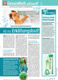 Titelbild der Ausgabe 1/2020 von Schon erste Krankheitssymptome?: Ab ins Erkältungsbad!. Zeitschriften als Abo oder epaper bei United Kiosk online kaufen.