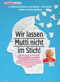 Titelbild der Ausgabe 3/2020 von 1,7 Millionen Deutsche sind dement – die meisten werden zu Hause gepflegt: Wir lassen Mutti nicht im Stich!. Zeitschriften als Abo oder epaper bei United Kiosk online kaufen.