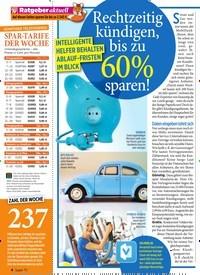 Titelbild der Ausgabe 4/2020 von Ratgeber aktuell: Rechtzeitig kündigen, bis zu 60% sparen!. Zeitschriften als Abo oder epaper bei United Kiosk online kaufen.