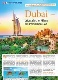 Titelbild der Ausgabe 4/2020 von Wo die Zukunft auf alte Traditionen trifft: Dubai – orientalischer Glanz am Persischen Golf. Zeitschriften als Abo oder epaper bei United Kiosk online kaufen.