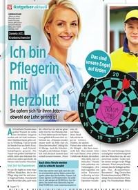 Titelbild der Ausgabe 6/2020 von Ratgeber aktuell: Ich bin Pflegerin mit Herzblut!. Zeitschriften als Abo oder epaper bei United Kiosk online kaufen.
