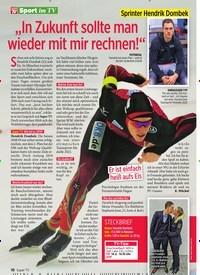 """Titelbild der Ausgabe 6/2020 von Sprinter Hendrik Dombek: """"In Zukunft sollte man wieder mit mir rechnen!"""". Zeitschriften als Abo oder epaper bei United Kiosk online kaufen."""