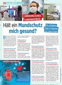 Titelbild der Ausgabe 7/2020 von Hält ein Mundschutz mich gesund?. Zeitschriften als Abo oder epaper bei United Kiosk online kaufen.