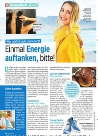 Titelbild der Ausgabe 7/2020 von Was jetzt für gute Laune sorgt: Einmal Energie auftanken, bitte!. Zeitschriften als Abo oder epaper bei United Kiosk online kaufen.