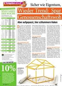 Titelbild der Ausgabe 8/2020 von Ratgeber aktuell: Wieder Trend: Spar modell Genossenschaftswoh nung. Zeitschriften als Abo oder epaper bei United Kiosk online kaufen.