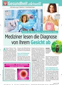 Titelbild der Ausgabe 8/2020 von Mediziner lesen die Diagnose von Ihrem Gesicht ab. Zeitschriften als Abo oder epaper bei United Kiosk online kaufen.