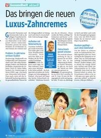 Titelbild der Ausgabe 8/2020 von Das bringen die neuen Luxus-Zahncremes. Zeitschriften als Abo oder epaper bei United Kiosk online kaufen.