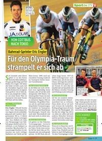 Titelbild der Ausgabe 9/2020 von Bahnrad-Sprinter Eric Engler: Für den Olympia-Traum strampelt er sich ab. Zeitschriften als Abo oder epaper bei United Kiosk online kaufen.