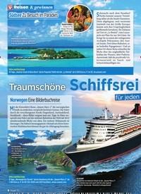 Titelbild der Ausgabe 9/2020 von Traumschöne Schiffsreisen für jeden Geldbeutel. Zeitschriften als Abo oder epaper bei United Kiosk online kaufen.