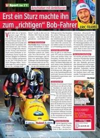 """Titelbild der Ausgabe 10/2020 von Sport im TV: Erst ein Sturz machte ihn zum """"richtigen"""" Bob-Fahrer. Zeitschriften als Abo oder epaper bei United Kiosk online kaufen."""