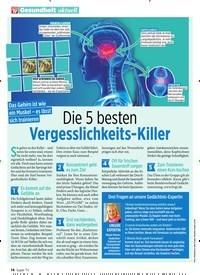 Titelbild der Ausgabe 10/2020 von Vergesslichkeits-Killer. Zeitschriften als Abo oder epaper bei United Kiosk online kaufen.