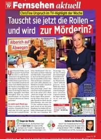 Titelbild der Ausgabe 10/2020 von ChrisTine Urspruch im TV-Highlight der Woche: Tauscht sie jetzt die Rollen – und wird zur Mörderin?. Zeitschriften als Abo oder epaper bei United Kiosk online kaufen.