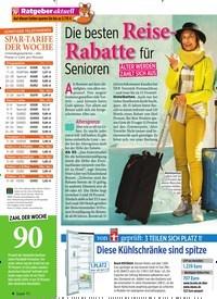 Titelbild der Ausgabe 12/2020 von Die besten Reise- Rabatte für Senioren. Zeitschriften als Abo oder epaper bei United Kiosk online kaufen.