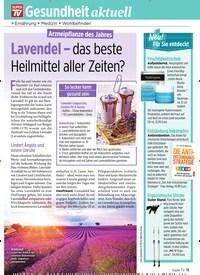 Titelbild der Ausgabe 12/2020 von Arzneipflanze des Jahres: Lavendel – das beste Heilmittel aller Zeiten?. Zeitschriften als Abo oder epaper bei United Kiosk online kaufen.