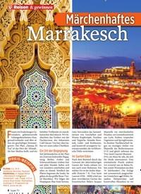 Titelbild der Ausgabe 13/2020 von Reisen & gewinnen: Märchenhaftes Marrakesch. Zeitschriften als Abo oder epaper bei United Kiosk online kaufen.
