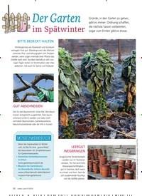 Titelbild der Ausgabe 1/2019 von Der Garten im Spätwinter. Zeitschriften als Abo oder epaper bei United Kiosk online kaufen.