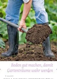 Titelbild der Ausgabe 4/2019 von GARTEN: Boden gut machen, damit Gartenträume wahr werden. Zeitschriften als Abo oder epaper bei United Kiosk online kaufen.
