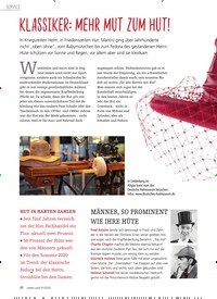 Titelbild der Ausgabe 1/2020 von KLASSIKER: MEHR MUT ZUM HUT!. Zeitschriften als Abo oder epaper bei United Kiosk online kaufen.