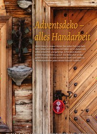 Titelbild der Ausgabe 6/2020 von DEKO: Adventsdeko - alles Handarbeit. Zeitschriften als Abo oder epaper bei United Kiosk online kaufen.