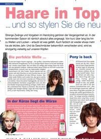 Titelbild der Ausgabe 2/2019 von BERATUNG: BERATUNG Haare in Top form ... und so stylen Sie die neuen Looks!. Zeitschriften als Abo oder epaper bei United Kiosk online kaufen.