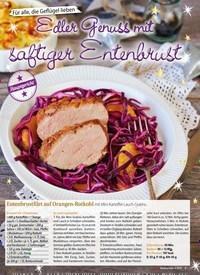 Titelbild der Ausgabe 4/2018 von Für alle, die Geflügel lieben: Edler Genuss mit saftiger Entenbrust. Zeitschriften als Abo oder epaper bei United Kiosk online kaufen.