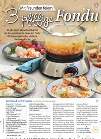 Titelbild der Ausgabe 3/2019 von Mit Freunden feiern: 3 pfiffige Fondues. Zeitschriften als Abo oder epaper bei United Kiosk online kaufen.