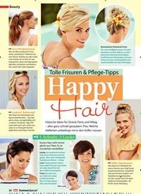 Titelbild der Ausgabe 1/2019 von Tolle Frisuren & Pflege-Tipps: Happy Hair. Zeitschriften als Abo oder epaper bei United Kiosk online kaufen.
