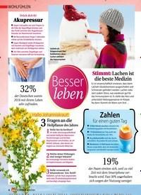 Titelbild der Ausgabe 1/2019 von WOHLFÜHLEN: Besser leben. Zeitschriften als Abo oder epaper bei United Kiosk online kaufen.