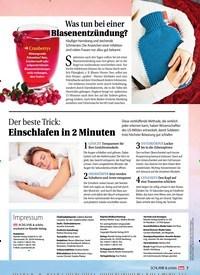 Titelbild der Ausgabe 1/2019 von Der beste Trick: Einschlafen in 2 Minuten. Zeitschriften als Abo oder epaper bei United Kiosk online kaufen.