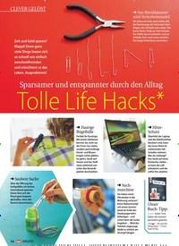 Titelbild der Ausgabe 1/2017 von Sparsamer und entspannter durch den Alltag: Tolle Life Hacks*. Zeitschriften als Abo oder epaper bei United Kiosk online kaufen.
