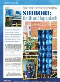 Titelbild der Ausgabe 1/2017 von Tolle Färbe-Techniken mit Indigoblau: SHIBORI: Batik auf Japanisch. Zeitschriften als Abo oder epaper bei United Kiosk online kaufen.