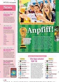 Titelbild der Ausgabe 25/2018 von Im Gespräch: Wir sind bereit für das Sommermärchen 2018: Anpfiff!. Zeitschriften als Abo oder epaper bei United Kiosk online kaufen.