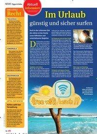Titelbild der Ausgabe 30/2018 von NEWS Tipps & Infos: Aktuell informiert: Im Urlaub günstig und sicher surfen. Zeitschriften als Abo oder epaper bei United Kiosk online kaufen.