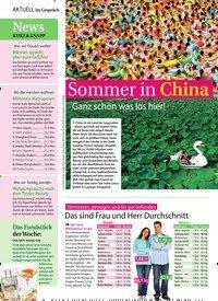 Titelbild der Ausgabe 34/2018 von Sommer in China: Ganz schön was los hier!. Zeitschriften als Abo oder epaper bei United Kiosk online kaufen.