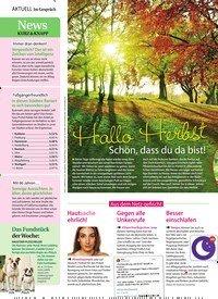 Titelbild der Ausgabe 38/2018 von Im Gespräch: Hallo Herbst: Schön, dass du da bist!. Zeitschriften als Abo oder epaper bei United Kiosk online kaufen.