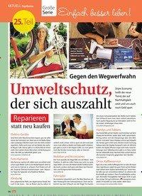 Titelbild der Ausgabe 38/2018 von Topthema: Gegen den Wegwerfwahn Umweltschutz, der sich auszahlt. Zeitschriften als Abo oder epaper bei United Kiosk online kaufen.