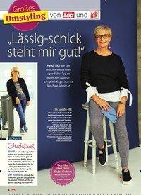 """Titelbild der Ausgabe 42/2018 von Großes Umstyling: von Lea und kik: """"Lässig-schick steht mir gut!"""". Zeitschriften als Abo oder epaper bei United Kiosk online kaufen."""