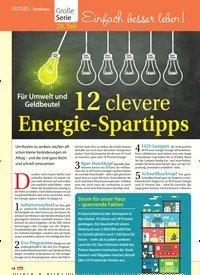 Titelbild der Ausgabe 42/2018 von Topthema: Für Umwelt und Geldbeutel: 12 clevere Energie-Spartipps. Zeitschriften als Abo oder epaper bei United Kiosk online kaufen.