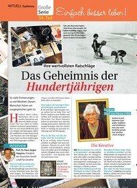 Titelbild der Ausgabe 47/2018 von Topthema: Einfach besser leben!:Das Geheimnis der Hundertjährigen. Zeitschriften als Abo oder epaper bei United Kiosk online kaufen.