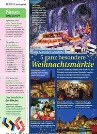 Titelbild der Ausgabe 49/2019 von Wie das funkelt und duftet: 5 ganz besondere Weihnachtsmärkte. Zeitschriften als Abo oder epaper bei United Kiosk online kaufen.