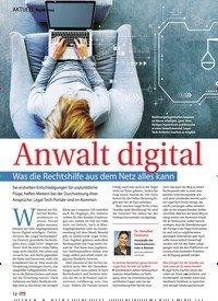 Titelbild der Ausgabe 49/2019 von Anwalt digital Was die Rechtshilfe aus dem Netz alles kann. Zeitschriften als Abo oder epaper bei United Kiosk online kaufen.