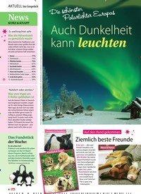 Titelbild der Ausgabe 50/2019 von Im Gespräch: Die schönsten Polarlichter Europas: Auch Dunkelheit kann leuchten. Zeitschriften als Abo oder epaper bei United Kiosk online kaufen.