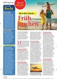 Titelbild der Ausgabe 4/2020 von Aktuell informiert: Ab in den Urlaub … Früh buchen: Wann lohnt es wirklich?. Zeitschriften als Abo oder epaper bei United Kiosk online kaufen.
